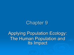 Ch. 9: Applying Population Ecology