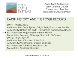 UNIT-2-2014-DAY-1-PM-Instruction-Major Events in Earth History