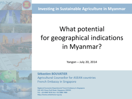 What potential for Geographical indications in Myanmar?