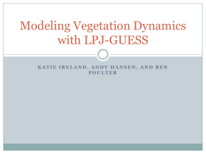 Modeling Vegetation Dynamics with LPJ