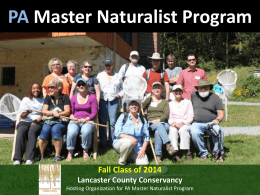 PA Master Naturalist Slideshow – Trainee Class of 2014