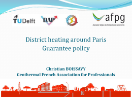 District heating around Paris – The French risk mitigation system