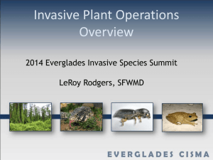 PowerPoint - Everglades Cooperative Invasive Species