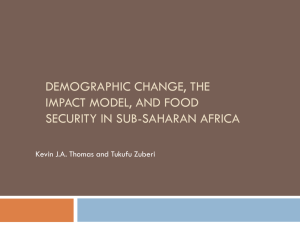 Demographic change, the IMPACT model, and food security in sub