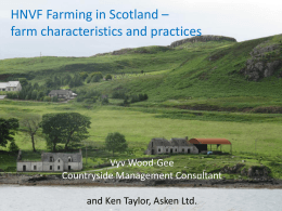 HNV farming in Scotland - Farm Characteristics and