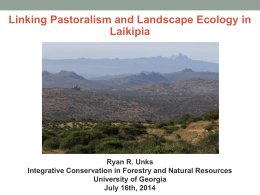 Linking Landscape Ecology and Pastoralism: An Integrative Approach