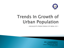 TRENDS IN URBAN POPULATION
