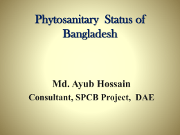 Phytosanitary Certification system of Bangladesh