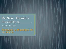 What is Energy? - Fair Lawn Public Schools