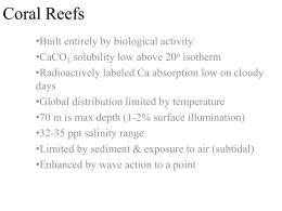 Coral Reef Processes (powerpoint)