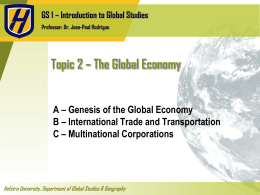 The Global Economy - Part II