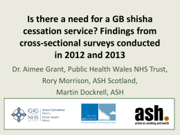 Is there a need for a GB shisha cessation service? Findings from