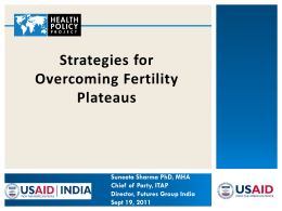 Strategies for Overcoming Fertility Plateaus