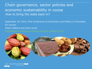 Chain governance, sector policies and economic