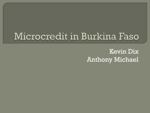Microcredit in Burkina Faso