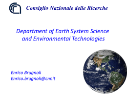 Department of Earth System Science and Environmental