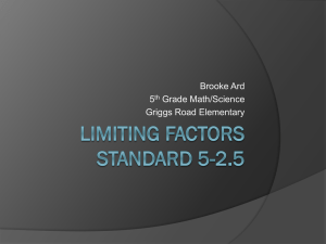 Limiting Factors standard 5-2.5