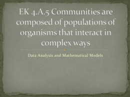 EK 4.A.5 Communities are composed of populations of organisms