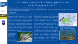 Can marine renewable installations provide a new niche