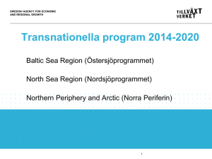 Transnationella program 2014 - 2020 (ppt)