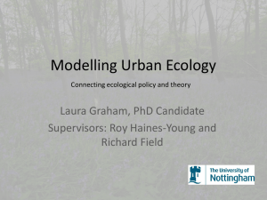 Urban Ecology: Policy and Theory