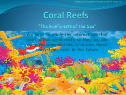 Coral Reefs - Study Is My Buddy 2015