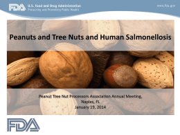 Salmonella - Peanut And Tree Nut Processors Association