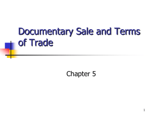 Documentary Sale and Terms of Trade