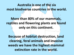 Queensland*s Threatened Animals