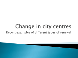 Change in city centres