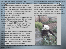How do pandas survive in the wild --- student home work