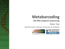 Metabarcoding - Bioinformatics Institute