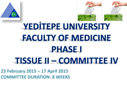 Introduction to IV. Committee - Yeditepe University Faculty of