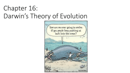 Chapter 16.1 Darwin`s Voyage of Discovery