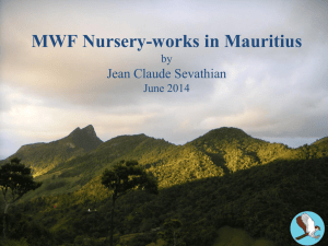 MWF Nusery-works in Mauritius by Jean Claude Sevathian June 2014