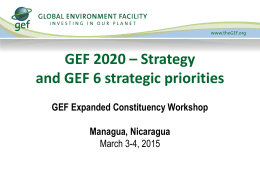 GEF2020 - Global Environment Facility