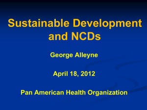 Sustainable Development and NCDs