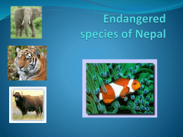 Endangered species of Nepal