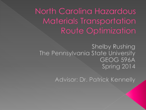 North Carolina Hazardous Materials Transportation Route