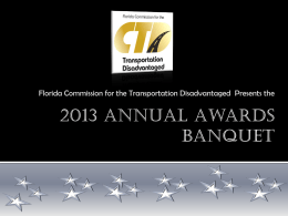2013 Annual Awards Banquet PowerPoint Presentation
