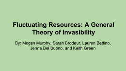 Fluctuating Resources: A General Theory of Invasibility