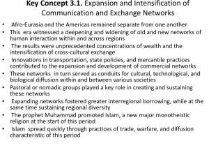 Key Concept 3.1. Expansion and Intensification of Communication