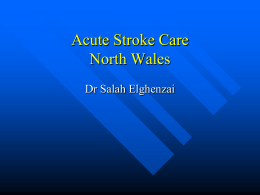 Acute Stroke Care North Wales