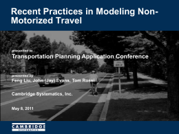 Non-Motorized Model Development