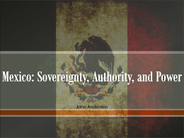 Mexico Sov Auth Power John Anderson