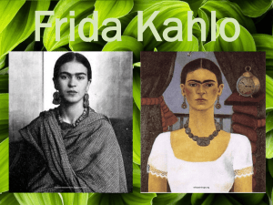 Notes Frida Kahlo - Plain Local Schools