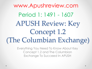 APUSH-Review-The-Columbian-Exchange