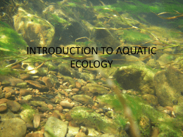 INTRODUCTION TO AQUATIC ECOLOGY