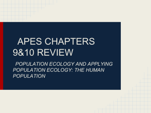 Chapter 9&10 review  - CarrollEnvironmentalScience