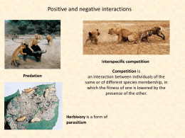 Positive and negative species interaction